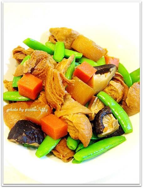 素料筑前煮拌清燙荷蘭豆