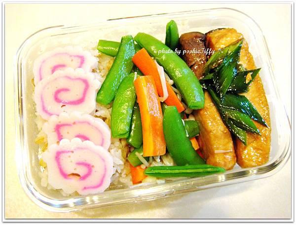 蒜苗旗魚+清燙時蔬