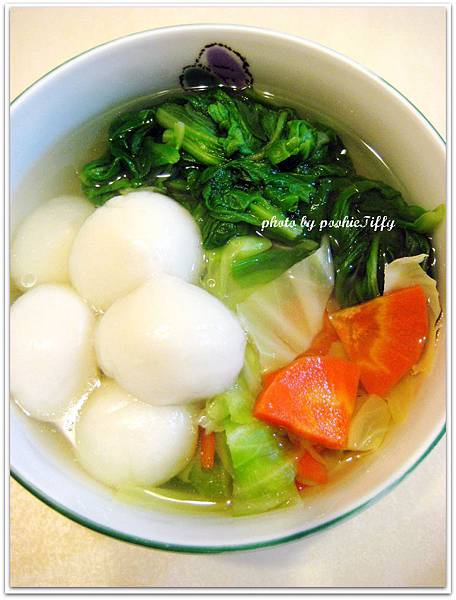 鹹湯圓蔬菜湯