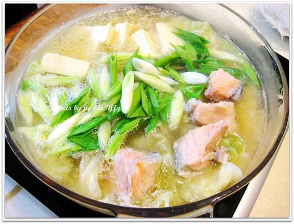 味噌豆腐鮭魚鍋