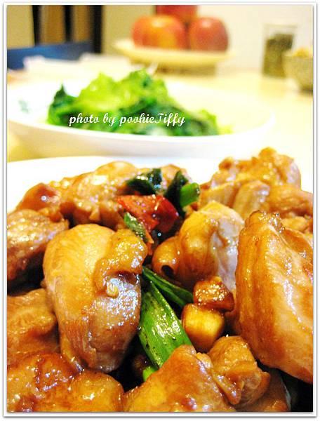 蔥燒雞腿排+清燙大陸妹+雙色炒牛蒡