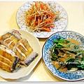 乾煎白帶魚+芝麻波菜+雙色牛蒡絲