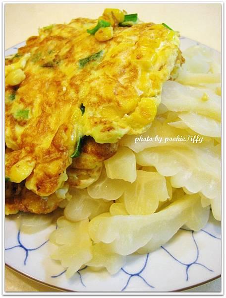 清炒苦瓜+蔥花玉米蛋