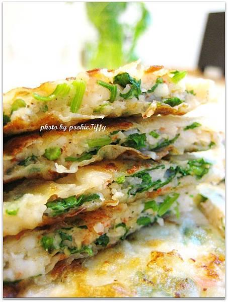 香菜加很多加不用錢之少油健康自製蝦餅!