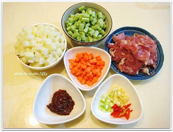 辣炒筍丁肉末材料