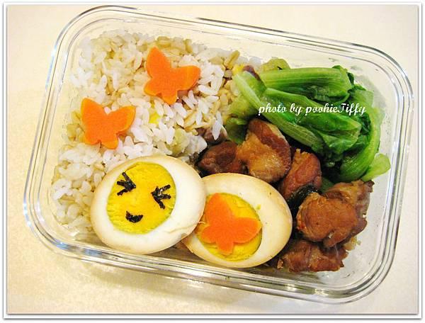 香辣滷肉/滷蛋+清燙大陸妹