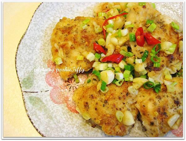 煎香辣雞胸+水炒大黃瓜