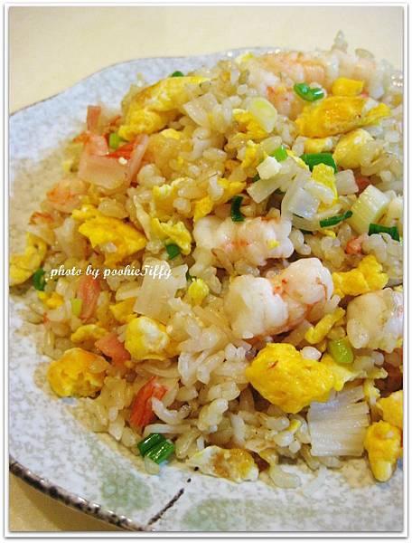 糙米蝦仁蔥花蛋炒飯