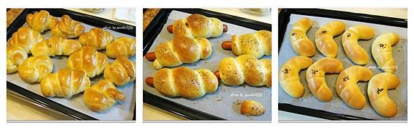 奶油小餐包/熱狗麵包/金牛角麵包