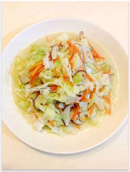 清炒鮮菇高麗菜