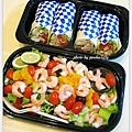 Costco 凱薩烤雞捲+鮮蝦沙拉