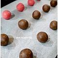 20121224 三色雪球 (巧克力雪球。草莓雪球。抹茶雪球) (2)