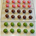 20121224 三色雪球 (巧克力雪球。草莓雪球。抹茶雪球) (3)