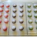 20121224 三色雪球 (巧克力雪球。草莓雪球。抹茶雪球) (6)