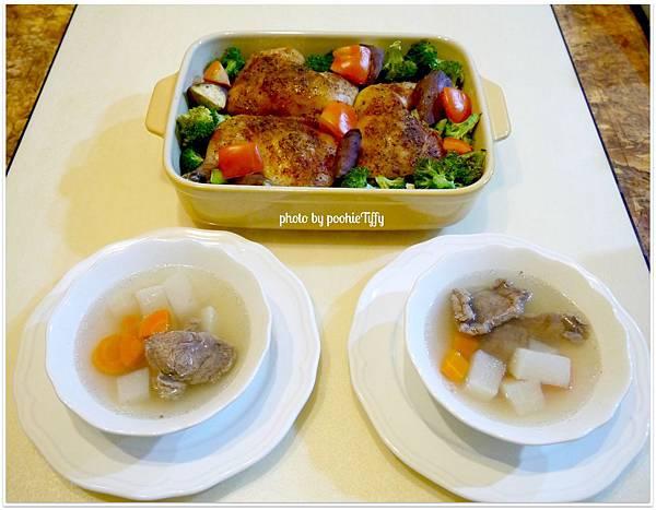 2012 聖誕夜 【匈牙利紅椒烤雞腿。烤時蔬(日本紫地瓜,姣白筍,花椰菜,牛蕃茄)】