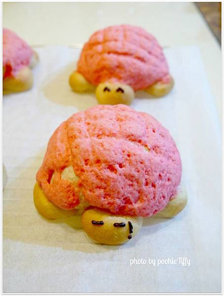 20130203 草莓菠蘿烏龜麵包 (6)