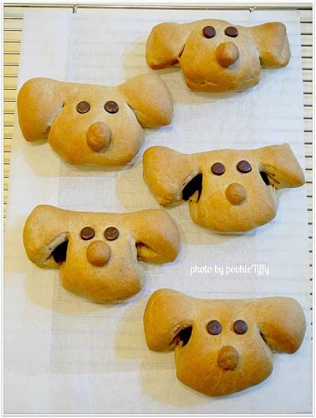 20130207 狗狗造型紅豆麵包 (4)