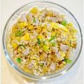 【玉米蔬菜丁蔥花糙米蛋炒飯】
