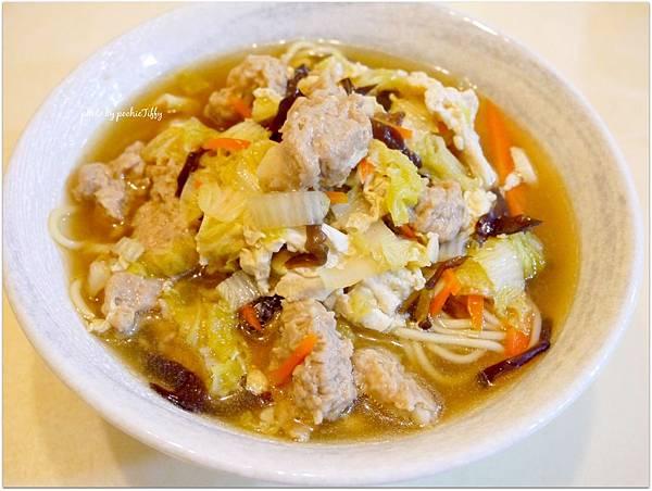 「肉羹清湯麵」