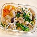 No.46「肉羹條菇菇辣味蓋飯」