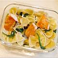 No.49「鮭魚波菜白醬蝴蝶麵」