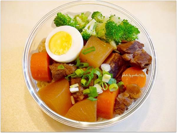 No.56「紅燒牛腩。清燙花椰菜。水煮蛋」