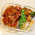 No.64「泡菜辣炒豬。九層塔炒麵腸。清炒高麗菜」