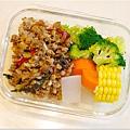 No.77「泰式打拋豬。清燙花椰菜。清蒸玉米。糙米飯」