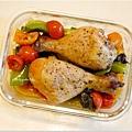 No.85「脆皮鹽味烤雞。烤時蔬」