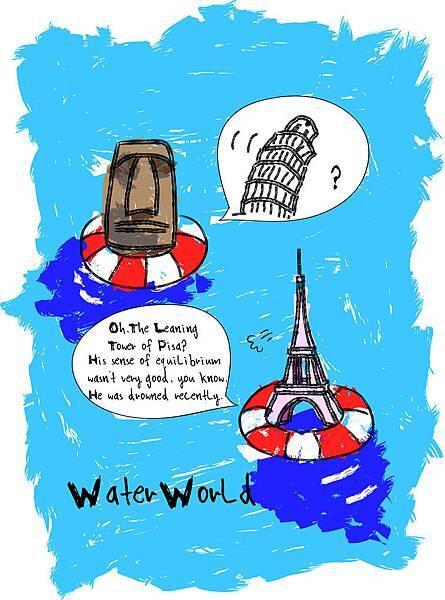 插畫.水世界之二