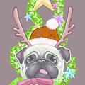 實品卡片.與fardora網站合作之聖誕卡片《聖誕快樂汪》