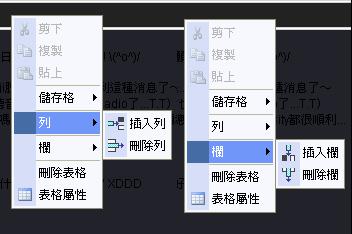 在PIXNET編輯表格之神奇的右鍵-4