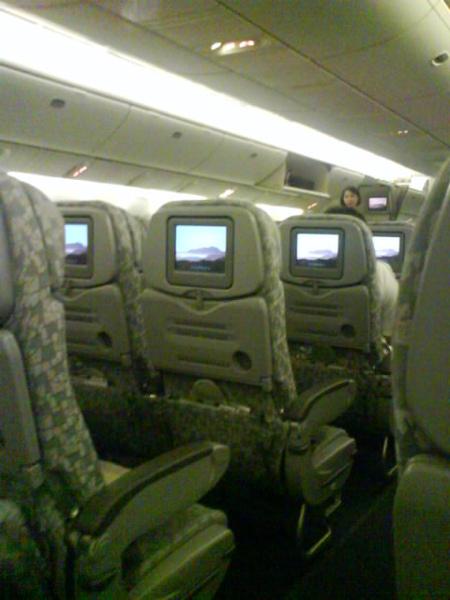 回程 整架飛機都沒什麼人