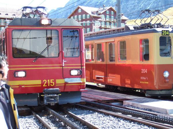 在Kleine Scheidegg換車上Jungfrau