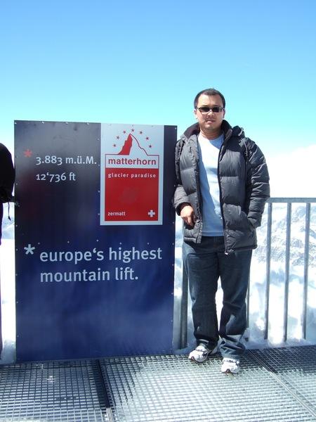 在歐洲最高的瞭望台,先來一張獨照