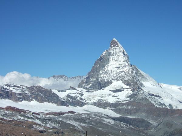 在Gornergrat終於看到清晰的馬特洪峰