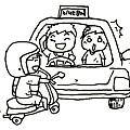 計程車驚險擦撞