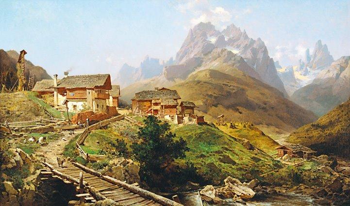 阿爾卑斯山的村落