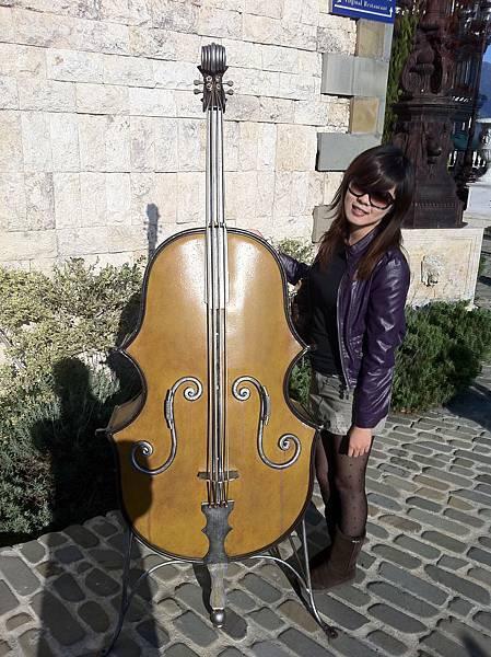 這隻低音提琴太假了= =