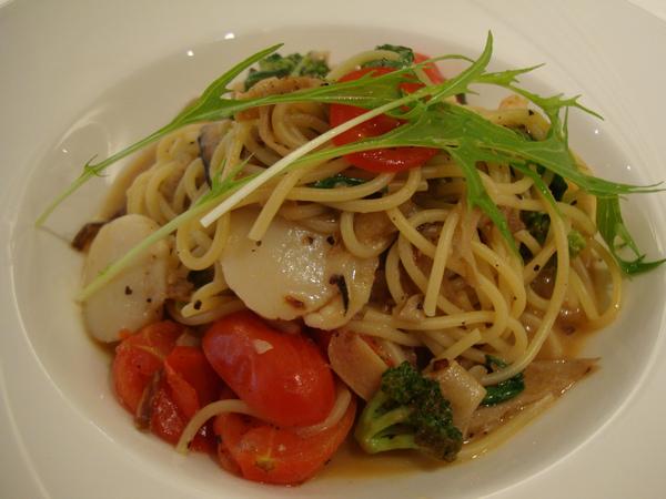 干貝蟹肉義大利麵