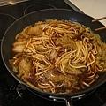 滷白菜跟麵