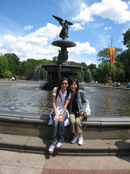 中央公園很美的噴水池
