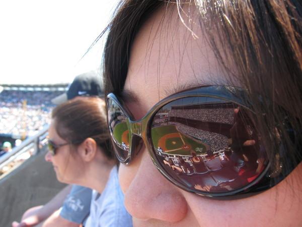墨鏡中的洋基球場
