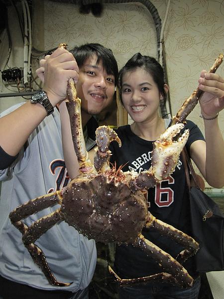 生猛帝王蟹與勇氏夫妻