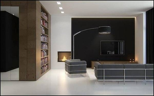 Black-brown-white-sophisticated-living-room-665x415