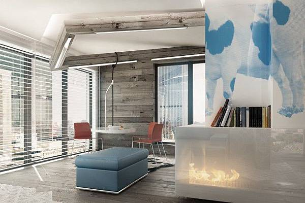 Blue-brown-white-modern-dining-room-665x443