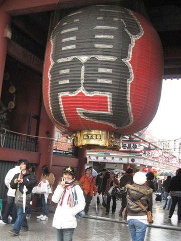 淺草有名的大紅燈籠