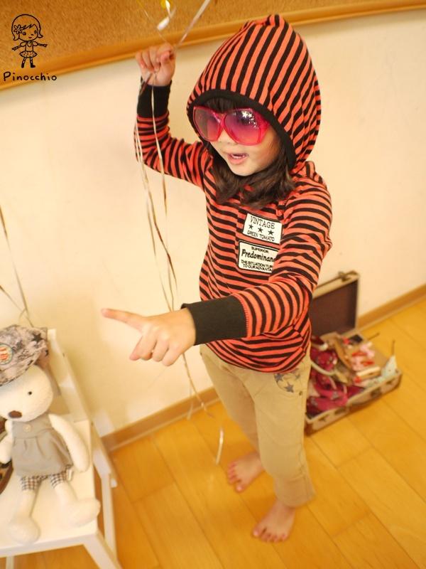 [休閒系]紅色黑條紋超韓系帽T