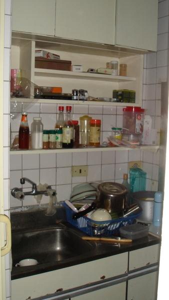 用來煮過飯給同事吃的廚房...亂