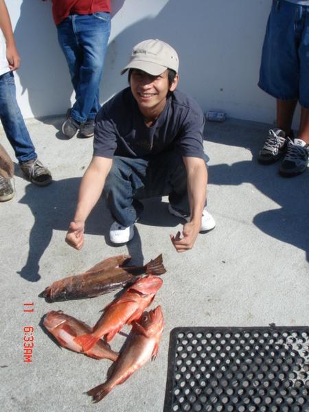 第一次出海釣魚, 真幸運